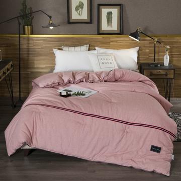 2018色织彩棉磨毛被春秋被 155x205cm2斤 砖红