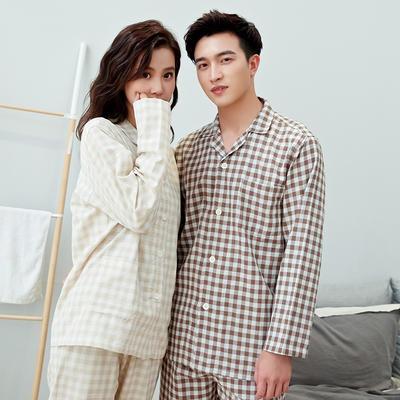 2020新款情侶家居服一套 M 小格(米咖)