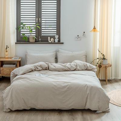 2020新款水洗棉四件套 1.2m床单款三件套 米细条
