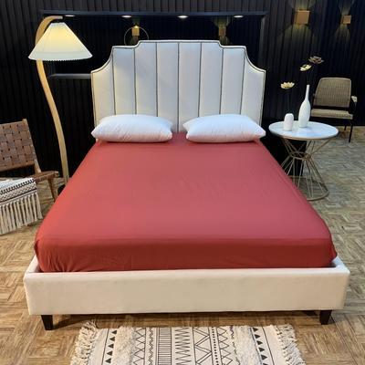 2020新款促销床笠 150cmx200cm 酒红