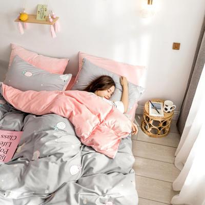 2018新款ins棉加绒四件套 1.2m(4英尺)床 菠萝