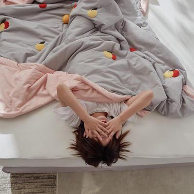 2020新款全水洗棉毛巾绣夏被 150x200cm 橙子