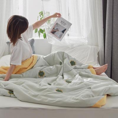 2020新款全水洗棉毛巾绣夏被 150x200cm 四叶草