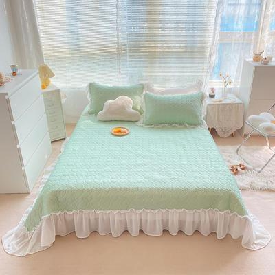 2021夏季新款床裙款凉感丝乳胶凉席 230*245cm 奶绿