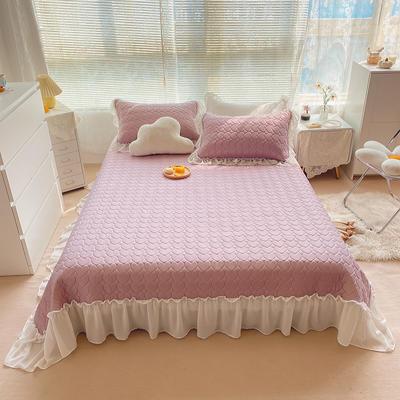 2021夏季新款床裙款凉感丝乳胶凉席 230*245cm 香芋紫