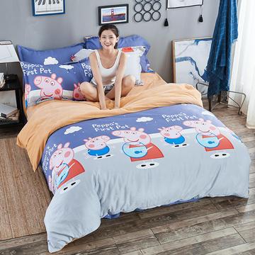 2018年全棉水晶绒AB面四件套 1.2m(4英尺)床(不含包装) 波莉的假期