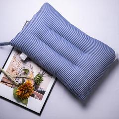 2019新品-日式抗菌防螨全棉水洗枕(48cm*74cm) 牛仔蓝 条纹