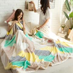 柠栀毯业 法莱绒AB版印花毛毯 加厚珊瑚绒毛毯秋冬季小毯子 180cmX200cm 奥兰多