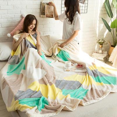 法莱绒AB版印花毛毯 加厚珊瑚绒毛毯秋冬季小毯子 180cmX200cm 奥兰多