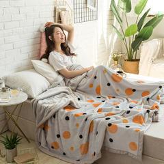 柠栀毯业 法莱绒AB版印花毛毯 加厚珊瑚绒毛毯秋冬季小毯子 200cmx230cm 爱沙拉