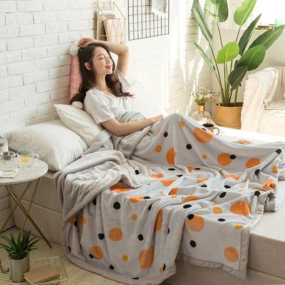 法莱绒AB版印花毛毯 加厚珊瑚绒毛毯秋冬季小毯子 180cmX200cm 爱沙拉