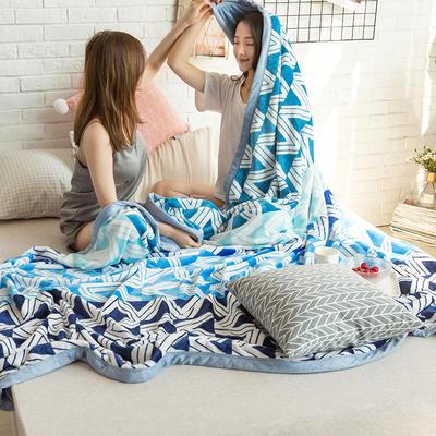 法莱绒AB版印花毛毯 加厚珊瑚绒毛毯秋冬季小毯子 180cmX200cm 凯尔特