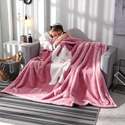 2020新款大版花经编拉舍尔毛毯 加厚双层单人双人毯子秋冬季婚庆盖毯被子 150cmX200cm重量5斤 熊熊日记