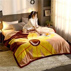 柠栀毯业 大版花经编拉舍尔毛毯 加厚双层单人双人毯子秋冬季婚庆盖毯被子 150cmX200cm重量4斤 落花有意
