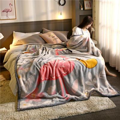 2020新款大版花经编拉舍尔毛毯 加厚双层单人双人毯子秋冬季婚庆盖毯被子 150cmX200cm重量5斤 巧夺天工