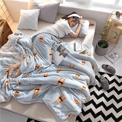 300克法莱绒毛毯  珊瑚绒小毛毯子 120cmX200cm 聪明伶俐