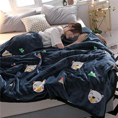 300克法莱绒毛毯  珊瑚绒小毛毯子 120cmX200cm 虎头虎脑