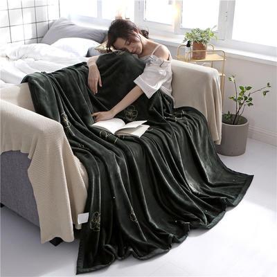 300克法莱绒毛毯  珊瑚绒小毛毯子 120cmX200cm 花样年华
