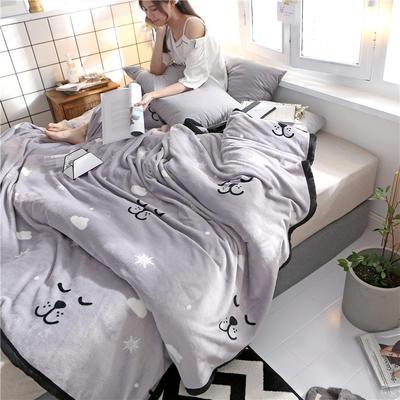 300克法莱绒毛毯  珊瑚绒小毛毯子 120cmX200cm 活泼可爱
