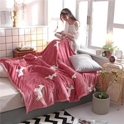 300克法莱绒毛毯  珊瑚绒小毛毯子 150cmx200cm 娇小玲珑