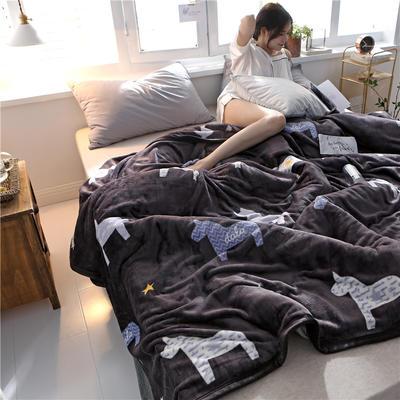 300克法莱绒毛毯  珊瑚绒小毛毯子 120cmX200cm 马不停蹄