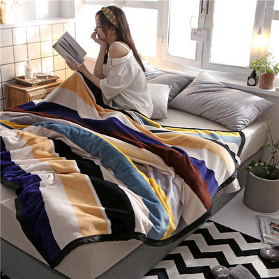 300克法莱绒毛毯  珊瑚绒小毛毯子 120cmX200cm 五彩斑斓