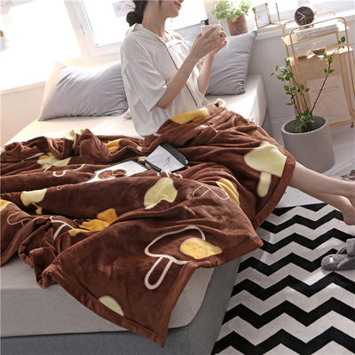 300克法莱绒毛毯  珊瑚绒小毛毯子 120cmX200cm 相濡以沫