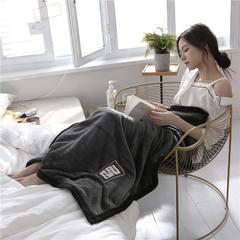 柠栀毯业  560克午睡毯 法莱绒小毛毯子 100cmX150cm W绅士灰
