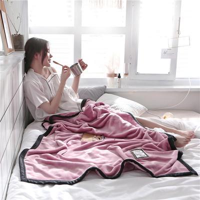 560克午睡毯 法莱绒小毛毯子 100cmX150cm W典雅红