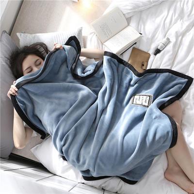 560克午睡毯 法莱绒小毛毯子 100cmX150cm W宝石蓝