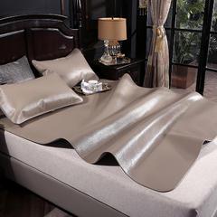 柠栀家纺  3.5mm头层素色印花水牛皮席银灰   送包装 1.5*1.95米三件套 银灰