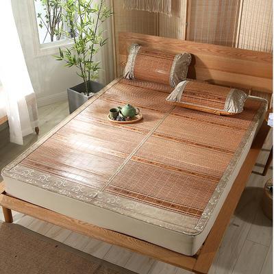 木纹竹席稳重 凉席 席面竹 背面冰丝席 1.5*1.95m单席 稳重