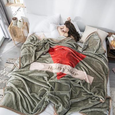 双人床图片 暖暖绒毛毯子 150cmX200cm(实际重量2斤) 盛夏光年