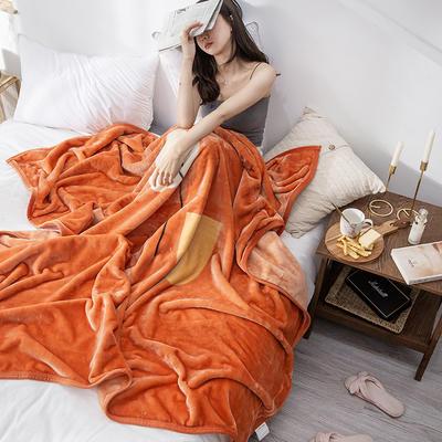 双人床图片 暖暖绒毛毯子 150cmX200cm(实际重量2斤) 城市恋人