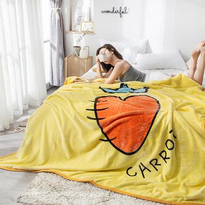 双人床图片 暖暖绒毛毯子 150cmX200cm(实际重量2斤) 超级萝卜-黄