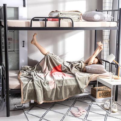 学生床上下铺床暖暖绒毛毯子 150cmX200cm(实重2斤) 盛夏光年