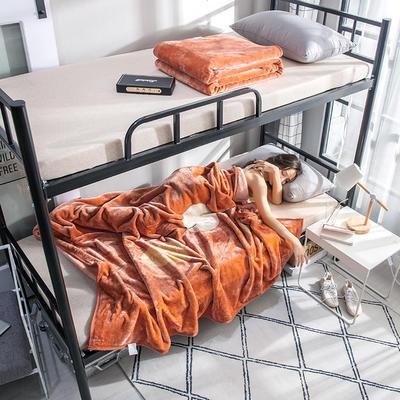 学生床上下铺床暖暖绒毛毯子 150cmX200cm(实重2斤) 城市恋人