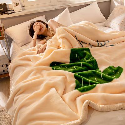 2019新款 柠栀毯业 大版花经编拉舍尔毛毯 加厚双层单人双人毯子秋冬季婚庆盖毯被子 150cmX200cm重量4斤 不屈不挠