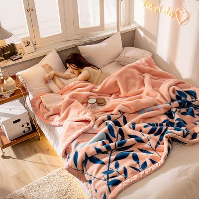 2020新款大版花经编拉舍尔毛毯 加厚双层单人双人毯子秋冬季婚庆盖毯被子 150cmX200cm重量5斤 枝繁叶茂