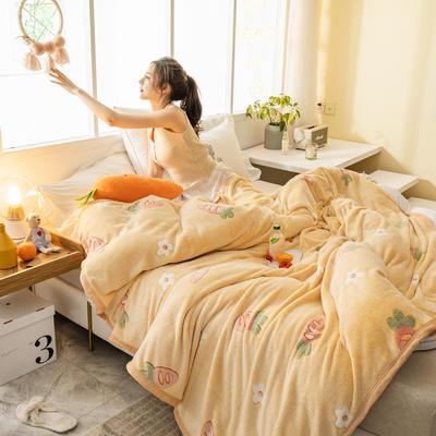 雪花绒毛毯 法莱绒毯子 70x100cm 萝卜世界