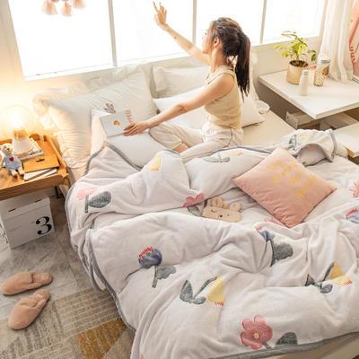 雪花绒毛毯 法莱绒毯子 100x120cm 含苞欲放