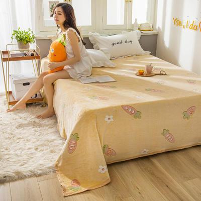 雪花绒床单 120cmx230cm 萝卜世界