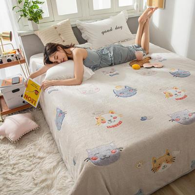 雪花绒床单 120cmx230cm 萌萌猫