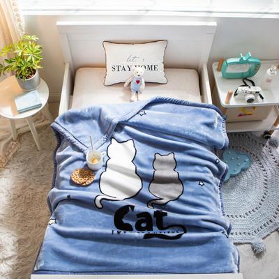 婴儿毯 童毯 105*135cm(实重2.2斤) 依偎猫猫