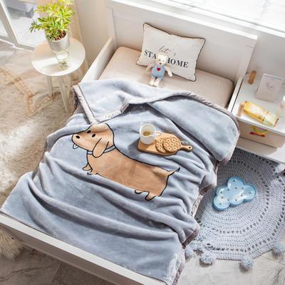 婴儿毯 童毯 105*135cm(实重2.2斤) 香肠狗狗
