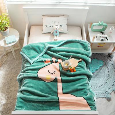 婴儿毯 童毯 105*135cm(实重2.2斤) 萌长颈鹿