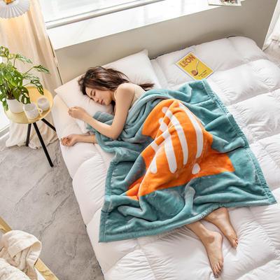 云毯 午睡毯 毛毯子 105*135cm(实重2.2斤) hi