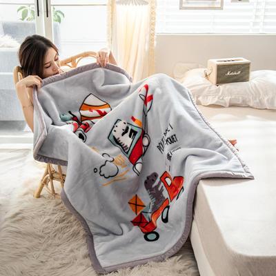 云毯 午睡毯 毛毯子 150*200cm(实重3.8斤) 动画卡通