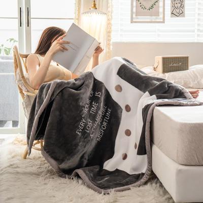 云毯 午睡毯 毛毯子 105*135cm(实重2.2斤) 改变命运