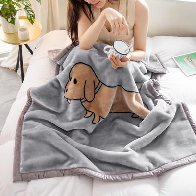 云毯 午睡毯 毛毯子 105*135cm(实重2.2斤) 香肠狗狗